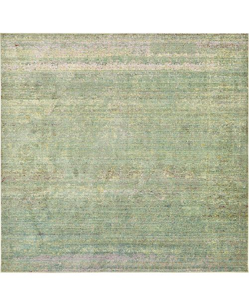 Bridgeport Home Malin Mal8 Green 8' x 8' Square Area Rug