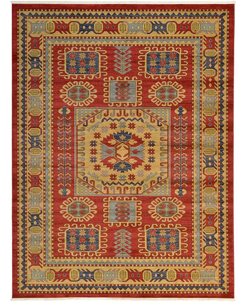 Bridgeport Home Harik Har6 Red 10' x 13' Area Rug