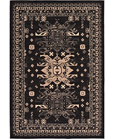 Bridgeport Home Charvi Chr1 Black 6' x 9' Area Rug