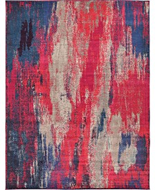 Bridgeport Home Adah Ada2 Magenta 9' x 12' Area Rug