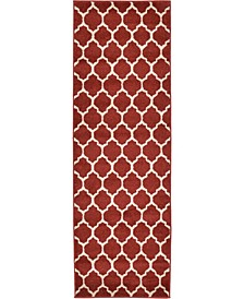 Arbor Arb1 Red 2' x 6' Runner Area Rug
