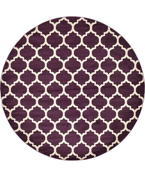 Bridgeport Home Arbor Arb1 Purple 10' x 10' Round Area Rug