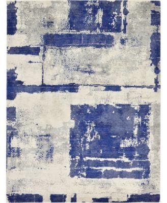 Wisdom Wis4 Navy Blue 9' x 12' Area Rug