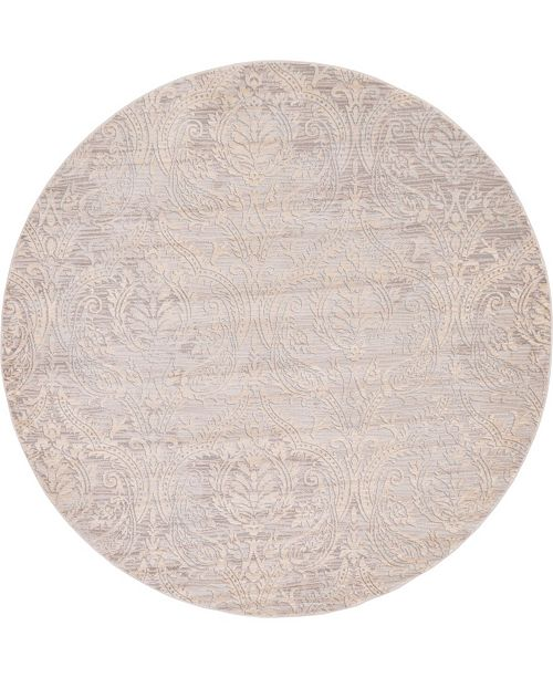 Bridgeport Home Caan Can5 Taupe 6' x 6' Round Area Rug