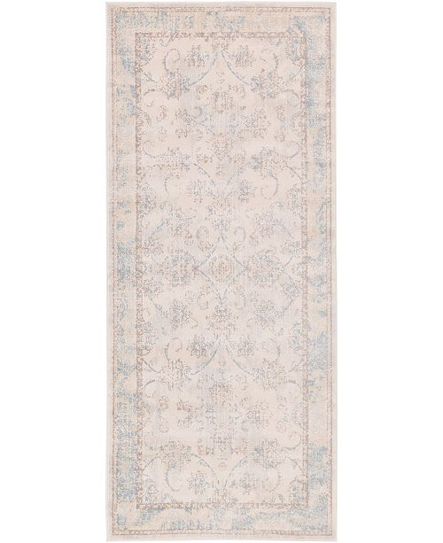 "Bridgeport Home Caan Can6 Beige 2' 7"" x 6' Runner Area Rug"