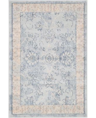 Caan Can6 Light Blue 5' x 8' Area Rug