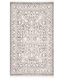 "Norston Nor1 Gray 3' 3"" x 5' 3"" Area Rug"