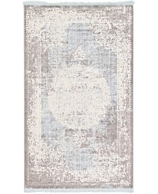 "Bridgeport Home Norston Nor4 Light Blue 3' 3"" x 5' 3"" Area Rug"