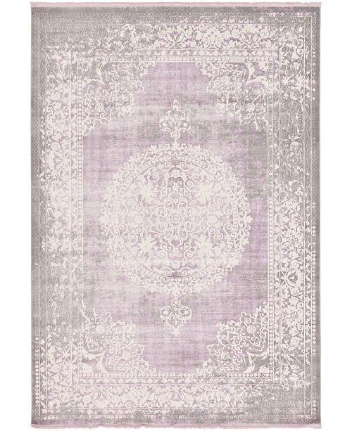 "Bridgeport Home Norston Nor4 Purple 8' x 11' 4"" Area Rug"