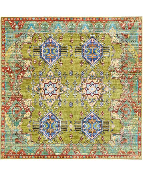 Bridgeport Home Malin Mal5 Light Green 8' x 8' Square Area Rug