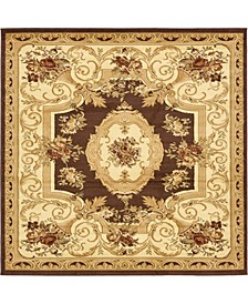 Belvoir Blv3 Brown 6' x 6' Square Area Rug