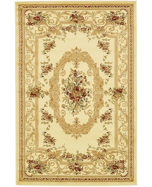 Bridgeport Home Belvoir Blv3 Ivory 4' x 6' Area Rug