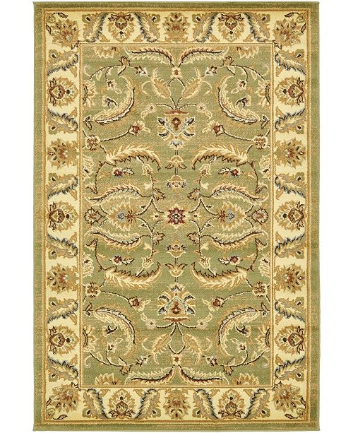 Bridgeport Home Passage Psg1 Green 4' x 6' Area Rug