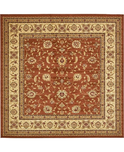 Area Rug Bridgeport Home Page Psg4 Brick Red 10 X Square