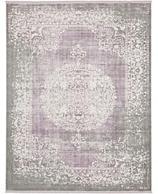 Norston Nor4 Purple 8' x 10' Area Rug