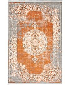 Bridgeport Home Norston Nor4 Terracotta 4' x 6' Area Rug