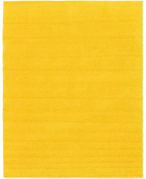 Bridgeport Home Exact Shag Exs1 Tuscan Sun Yellow 10' x 13' Area Rug