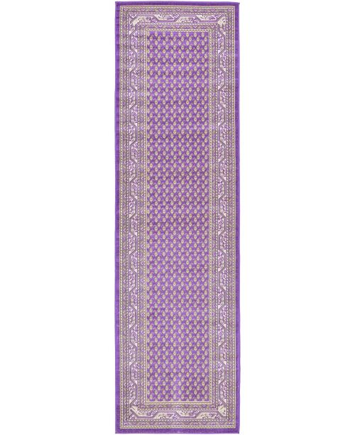 "Bridgeport Home Axbridge Axb1 Violet 2' 9"" x 9' 10"" Runner Area Rug"