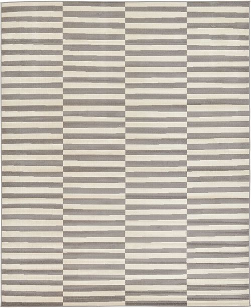 Bridgeport Home Axbridge Axb2 Gray 8' x 10' Area Rug