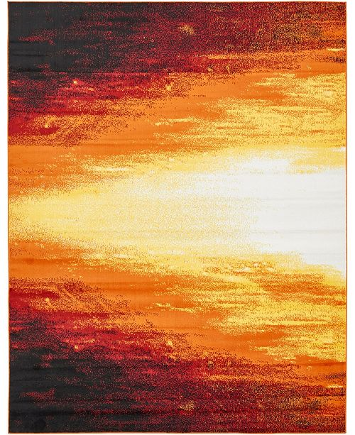 Bridgeport Home Politan Pol1 Orange 8' x 10' Area Rug