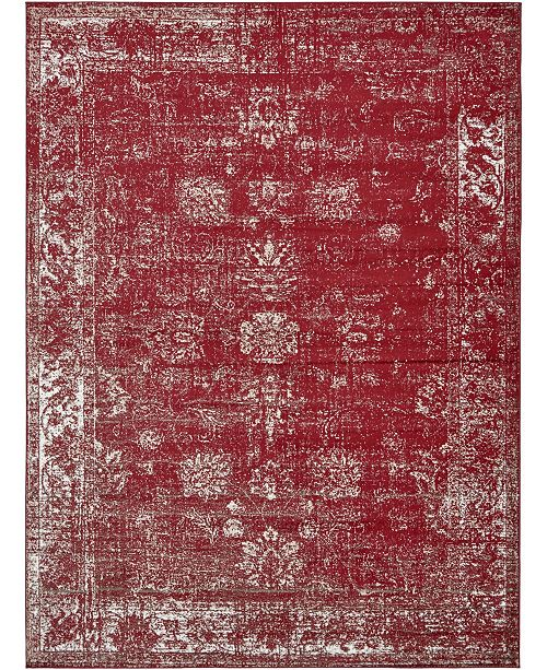 Bridgeport Home Basha Bas1 Burgundy 9' x 12' Area Rug