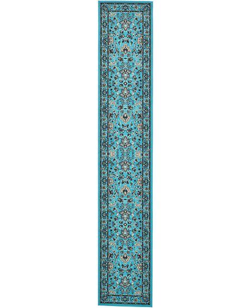 """Bridgeport Home Arnav Arn1 Turquoise 3' x 16' 5"""" Runner Area Rug"""