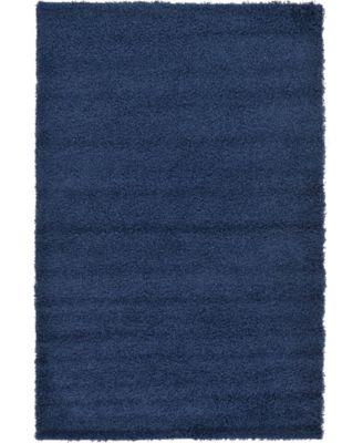Exact Shag Exs1 Navy Blue 5' x 8' Area Rug
