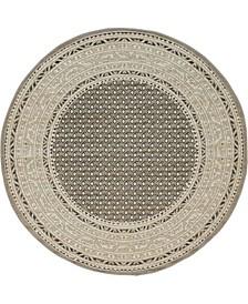 Axbridge Axb1 Gray 5' x 5' Round Area Rug