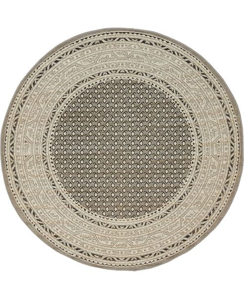 Bridgeport Home Axbridge Axb1 Gray 5' x 5' Round Area Rug