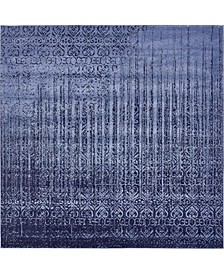 Lyon Lyo2 Blue 8' x 8' Square Area Rug