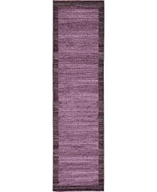 "Bridgeport Home Lyon Lyo4 Violet 2' 7"" x 10' Runner Area Rug"