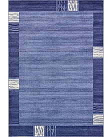 "Lyon Lyo1 Navy Blue 8' x 11' 4"" Area Rug"