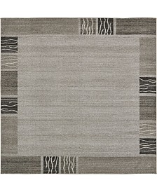 Bridgeport Home Lyon Lyo1 Light Gray 8' x 8' Square Area Rug
