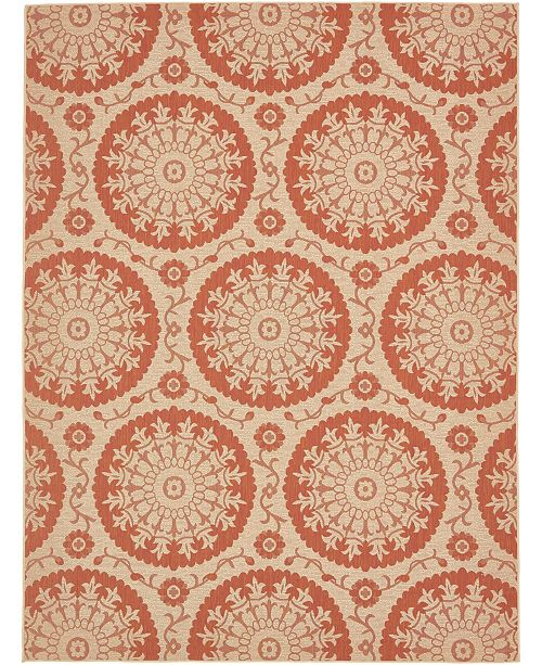 Bridgeport Home Pashio Pas5 Terracotta 9' x 12' Area Rug