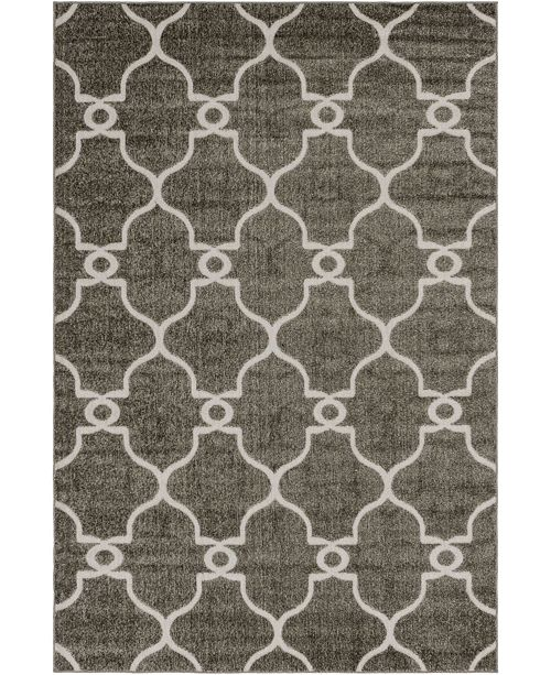 Bridgeport Home Pashio Pas2 Gray 6' x 9' Area Rug