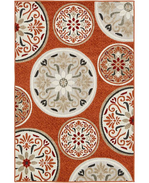 Bridgeport Home Pashio Pas4 Terracotta 4' x 6' Area Rug