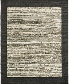 Bridgeport Home Pashio Pas4 Black 8' x 10' Area Rug