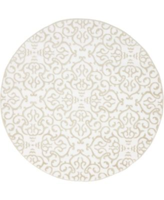 Marshall Mar5 Snow White 5' x 5' Round Area Rug