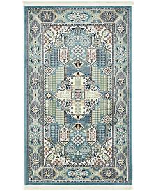 Bridgeport Home Zara Zar4 Blue Area Rug Collection