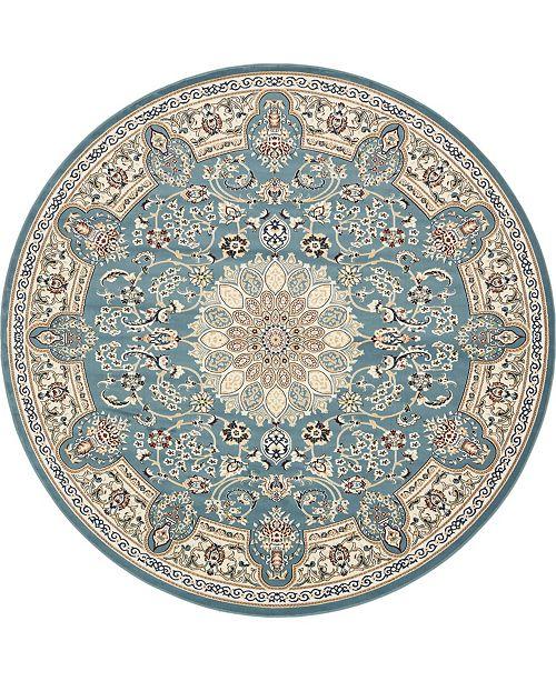 Bridgeport Home Zara Zar5 Blue 10' x 10' Round Area Rug