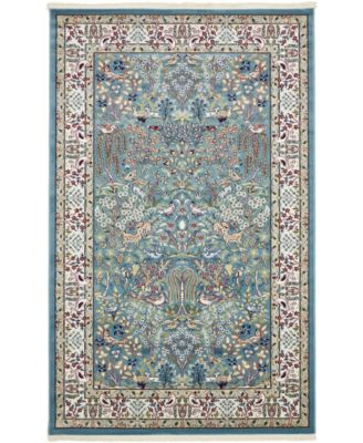 Zara Zar7 Blue 5' x 8' Area Rug