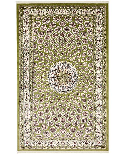 Bridgeport Home Zara Zar1 Green 5' x 8' Area Rug