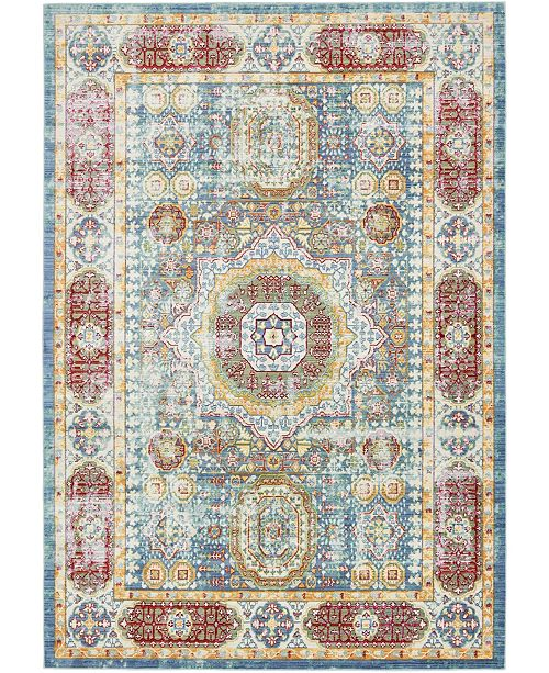 Bridgeport Home Malin Mal1 Blue 6' x 9' Area Rug