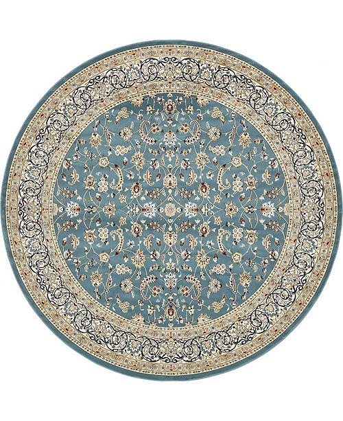 Bridgeport Home Zara Zar1 Blue 10' x 10' Round Area Rug