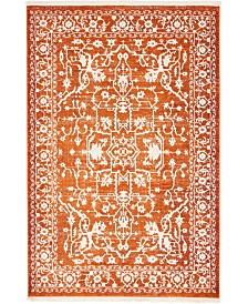 Bridgeport Home Norston Nor1 Terracotta 4' x 6' Area Rug