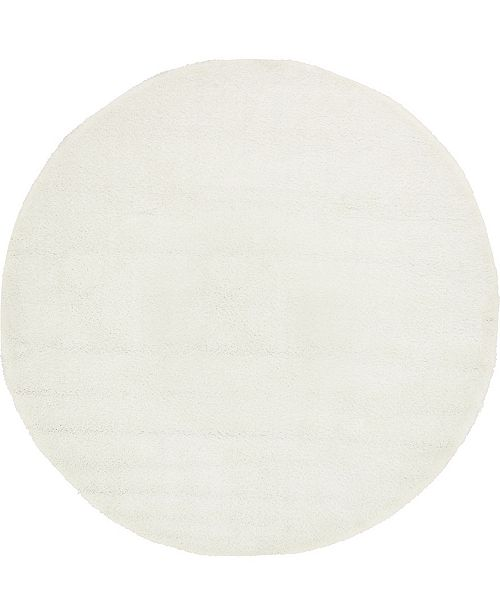 Bridgeport Home Uno Uno1 Snow White 8' x 8' Round Area Rug