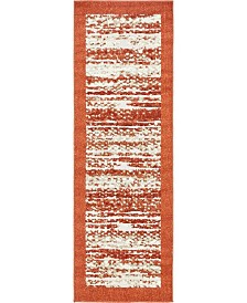 Bridgeport Home Pashio Pas4 Terracotta 2' x 6' Runner Area Rug