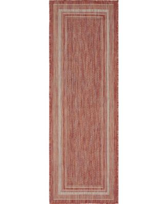 Pashio Pas5 Rust Red 2' x 6' Runner Area Rug