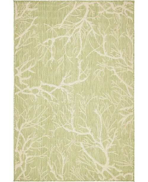 Bridgeport Home Pashio Pas6 Light Green 4' x 6' Area Rug