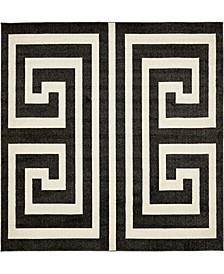 Anzu Anz1 Black 8' x 8' Square Area Rug